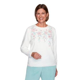 Womens Alfred Dunner St. Moritz Chenille Floral Sw