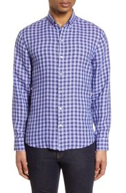 Zachary Prell Bonner Plaid Linen Button-Down Shirt