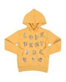 DKNY Jeans sequin letters hooded popover (7-16)