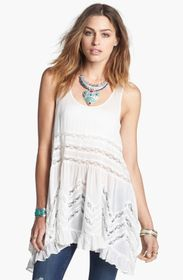 Free People Swingy Lace Inset Tunic