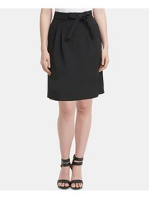 DKNY Womens Black Belted Above The Knee Pencil Wea
