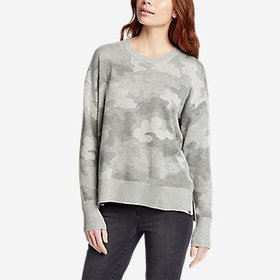 Women's Engage Allover-Pattern Crewneck Sweater