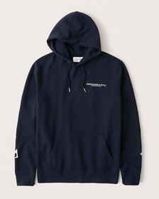 Exploded Logo Hoodie, NAVY BLUE