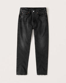 90s Taper Jeans, WASHED BLACK