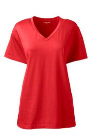 Lands End Women's Relaxed Supima V-neck T-shirt
