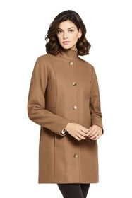 Lands End Women's Fit and Flare Long Wool Coat