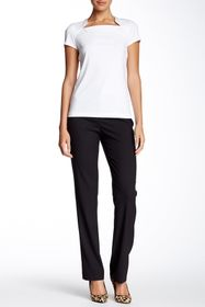 Lafayette 148 New York Straight Leg Front Zip Pant