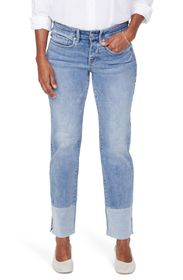 NYDJ Marilyn Pieced Ankle Slit Jeans