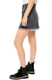 Free People Sidecar Denim Mini Skirt