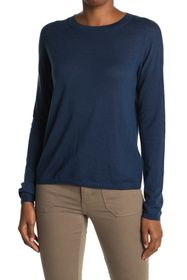 Vince Long Sleeve Wool Blend Sweater Tee