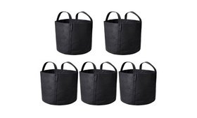5 Pack Grow Bags Fabric Pots Root Pouch with Handl