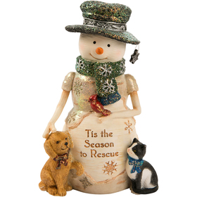 Pavilion Snowman with Puppy & Kitty Rescue