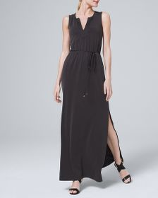 SUPER-COMFY MAXI DRESS IN SANDWASHED JERSEY