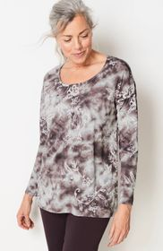 Pure Jill Scoop-Neck Print Top