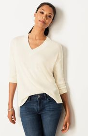 Relaxed Waffle-Knit Top