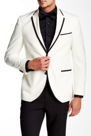 Kenneth Cole Reaction Contrast Trim Two Button Not