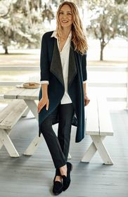 Two-Toned Draped Cardi