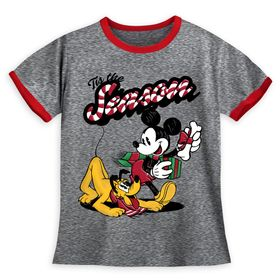 Disney Mickey Mouse and Pluto Holiday Ringer T-Shi