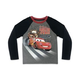 Disney Cars Long Sleeve Baseball T-Shirt for Kids