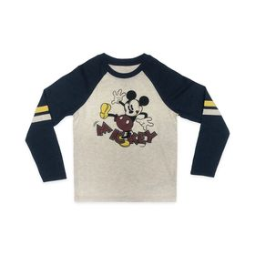 Disney Mickey Mouse Long Sleeve Baseball T-Shirt f