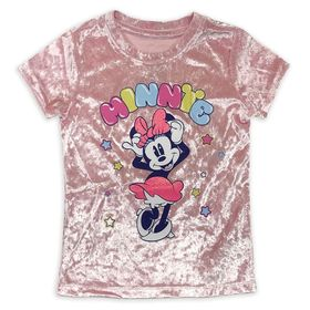 Disney Minnie Mouse Velour T-Shirt for Girls