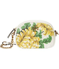 Tory Burch Kira Chevron Quilted Floral Camera Bag