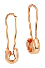 Savvy Cie 18K Rose Gold Vermeil Safety Pin Earring