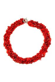 Eye Candy Los Angeles Red Agate Stone Necklace