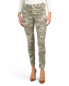 SEVEN7 Camo Print Utility Ankle Skinny Jeans