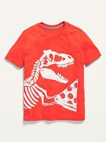 Short-Sleeve Dino-Graphic Tee for Boys