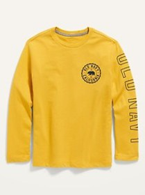 Logo-Graphic Long-Sleeve Tee for Boys