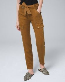 Petite High-Rise Straight Ankle Jeans