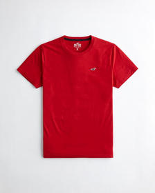 Hollister Must-Have Crewneck T-Shirt, RED
