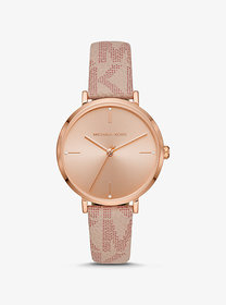 Michael Kors Oversized Jayne Rose Gold-Tone and Lo