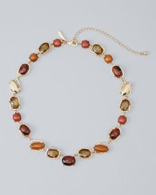 Single-Strand Red Tiger Eye Necklace
