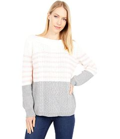Tommy Hilfiger Cate Veri Striped Cable Sweater