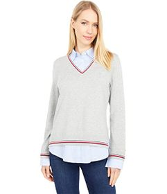 Tommy Hilfiger Cornell Stripe Twofer Sweater