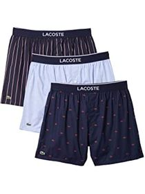 Lacoste Authentic Woven All Over Print Croc Boxer