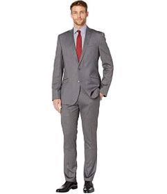 Kenneth Cole Reaction Solid Stretch Skinny Suit