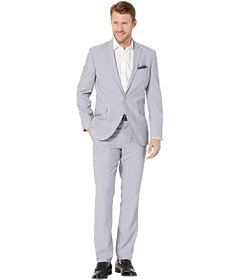 Kenneth Cole Reaction Sharkskin Slim Fit Stretch P