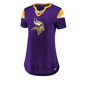 Officially Licensed NFL Athena Jersey Lace-Up Tee