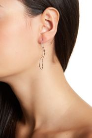 ADORNIA Sterling Silver Double Sided Threader Earr
