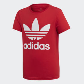 Adidas Youth Originals Red Trefoil Tee