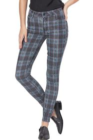 PAIGE Hoxton Ultra Skinny Plaid Printed Jeans