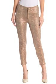 MOTHER The Looker Snake Texture High Waist Skinny