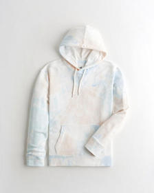 Hollister Must-Have Hoodie, LIGHT BLUE AND LIGHT C