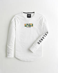 Hollister Orlando Graphic Tee, WHITE