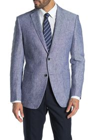 John Varvatos Star USA Baxter Blue Solid Two Butto