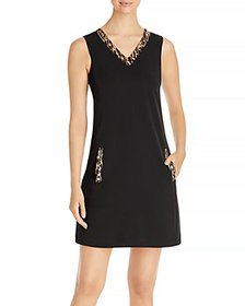 T Tahari - Embellished V Neck Dress