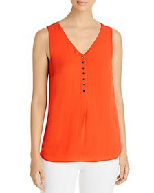 T Tahari - Sleeveless Button Trim Top
